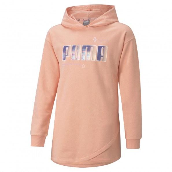 Puma Alpha Elongated TR G hættetrøje – Apricot Blush