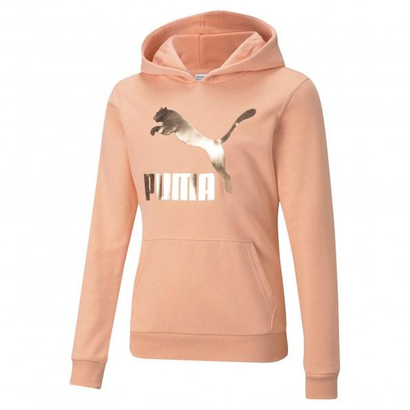 Puma Classics Logo G hættetrøje – Apricot Blush