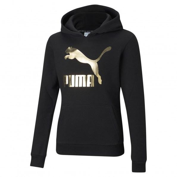 Puma Classics Logo G hættetrøje – Puma Black
