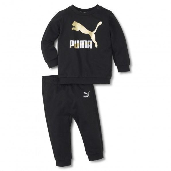Puma Minicats Classics Crew joggingsæt – Puma Black