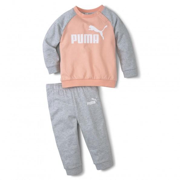 Puma Minicats ESS Raglan joggingsæt – Apricot Blush