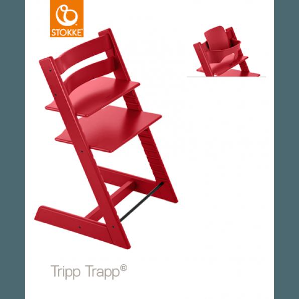Tripp Trapp Højstol + Babysæt - Rød