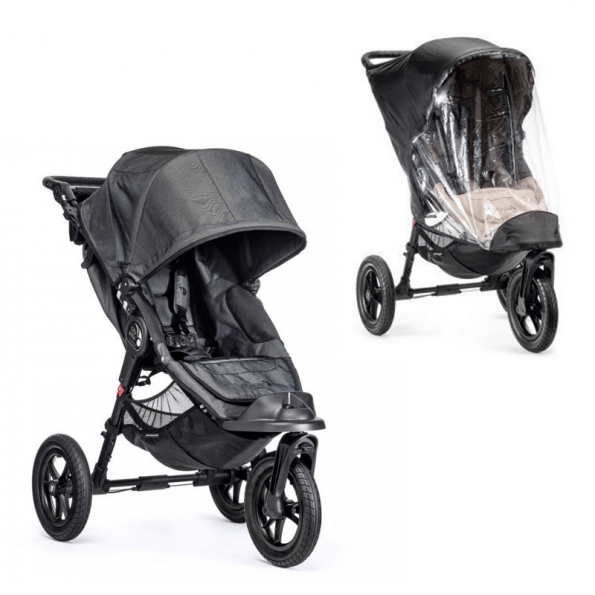 Baby Jogger City Elite Single Charcoal Denim + Regnslag