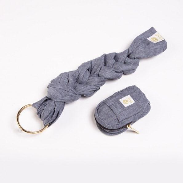 LÍLLÉbaby ring sling babyslynge - heathered dusk