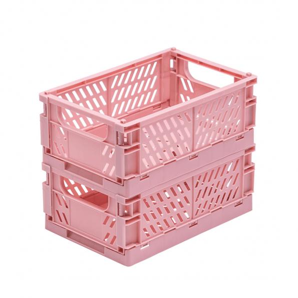 Tiny Republic 2 stk. Foldekasser Medium - Rosa