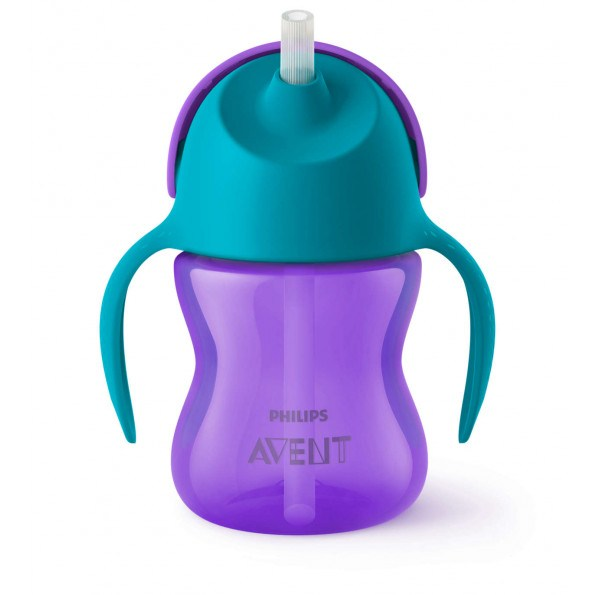 Philips Avent Sugerørskop 200 ml - lilla/turkis