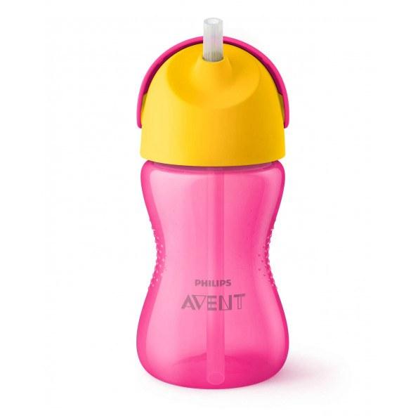 Philips Avent Sugerørskop 260 ml - pink/gul