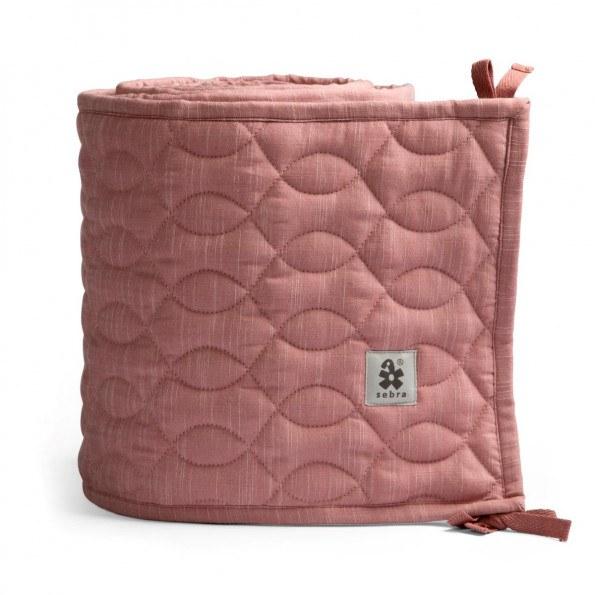 Sebra quiltet sengerand - Blossom Pink