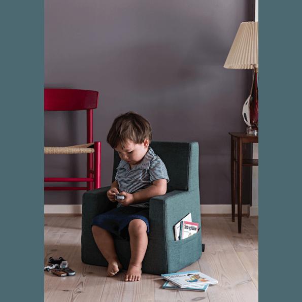 By Klip Klap Kids Chair - Deep Green