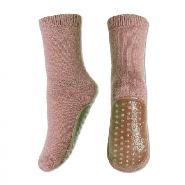 mp Denmark uldstrømper med skridsikker bund - Woodrose