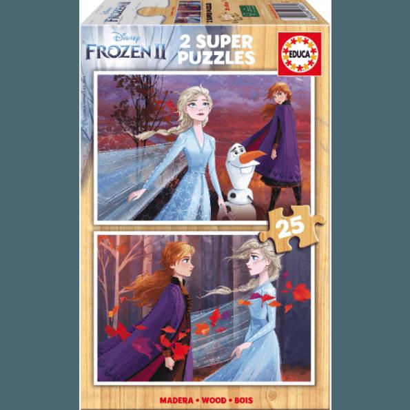 Educa - Frost 2 træpuslespil 2x25 brikker