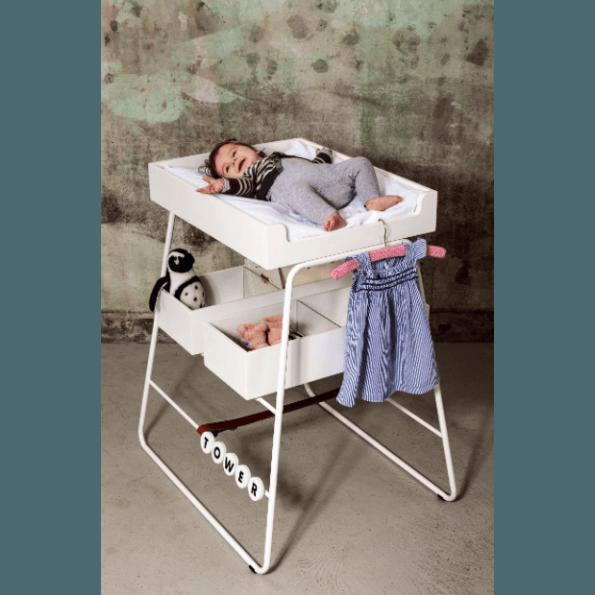 BudtzBendix changingTOWER puslebord - hvid