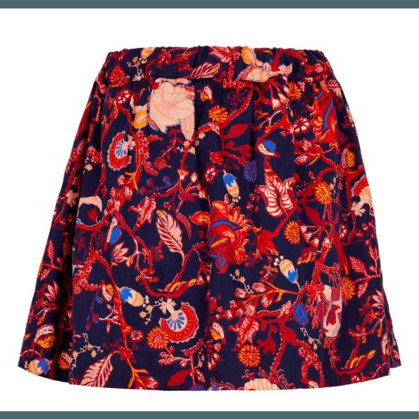Noa Noa Miniature nederdel m. blomster - Navy Blazer
