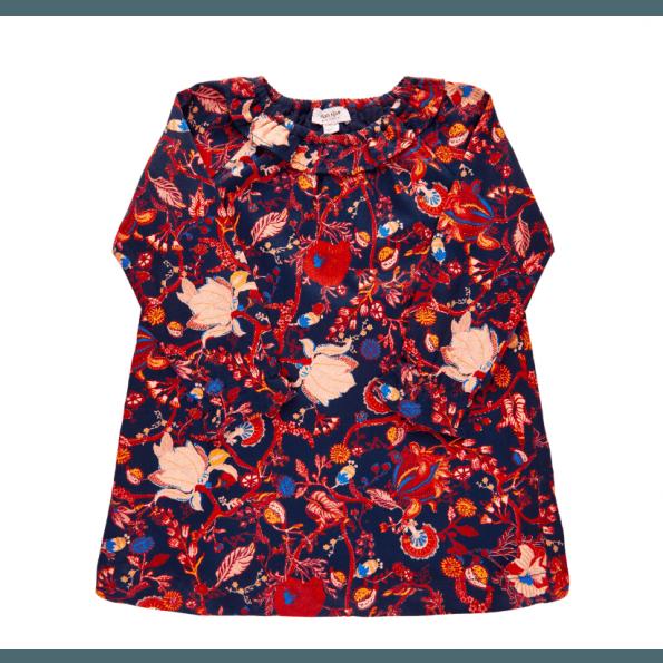Noa Noa Miniature kjole m. flæsekrave - Navy Blazer