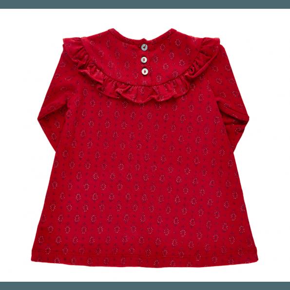 Noa Noa Miniature kjole m. flæse - Red Dahlia