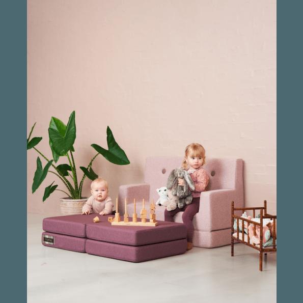 By KlipKlap KK Kids sofa - Soft Rose m. rosa knap