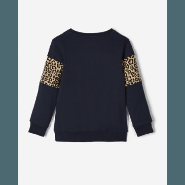 Name It sweatshirt leoprint - dark sapphire