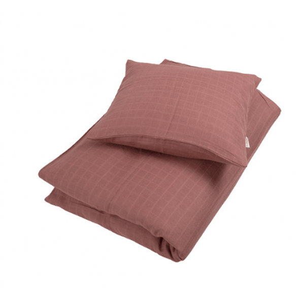 Filibabba juniorsengetøj muslin 100x140 cm - dusty rose