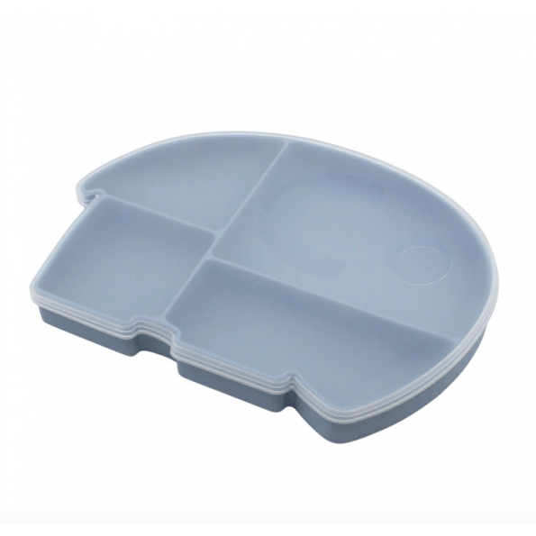 Sebra silikone tallerken Fanto - powder blue