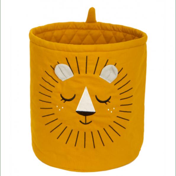 Roommate løve opbevaringspose - okker