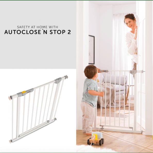 Hauck Autoclose N Stop sikkerhedsgitter - hvid