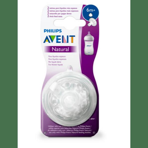 Philips Avent natural 6 mdr. 2-pack suttehoveder