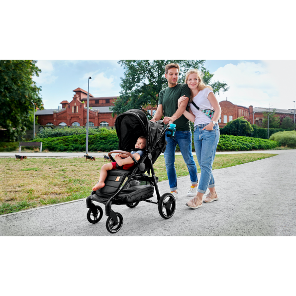 Kinderkraft GRANDE LX klapvogn - grey