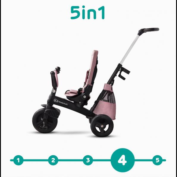 Kinderkraft EASYTWIST tricycle - mauvelous pink
