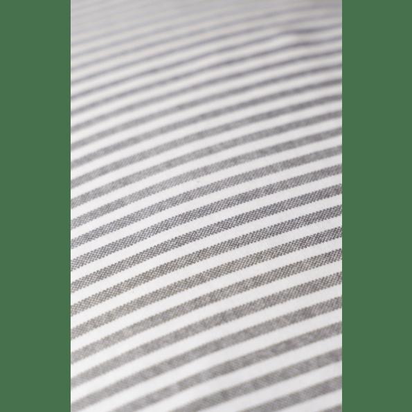 BySkagen Josefine babysengetøj 70x100 cm. - grå striber