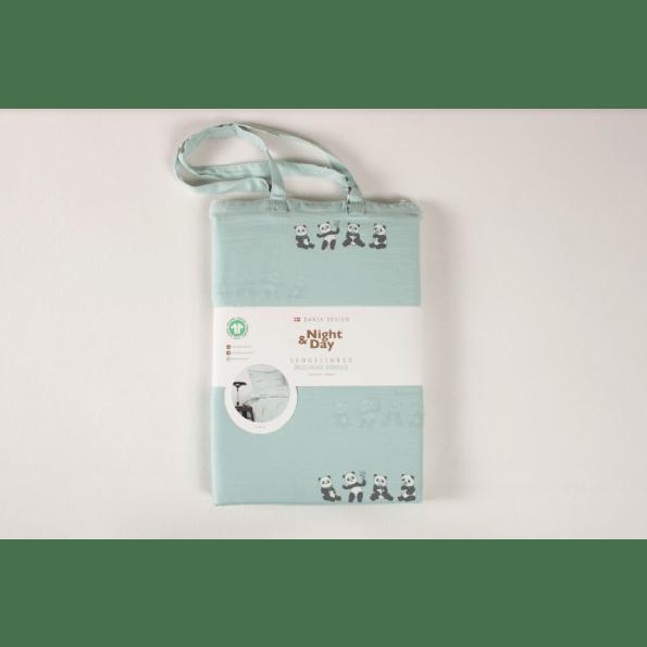 Night & Day panda babysengetøj 70x100 - mint