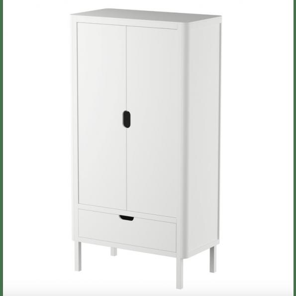 Sebra klædeskab m. dobbelt låger - classic white