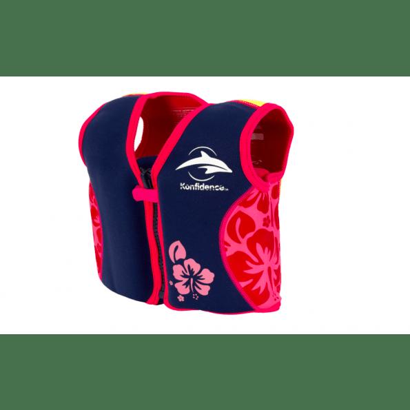 Konfidence svømmevest - navy/hibiscus