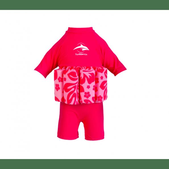 Konfidence flydedragt - pink hibiscus