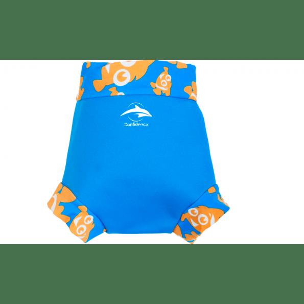 Konfidence badebukser m. ble - cyan/clownfish