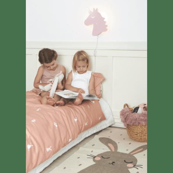 Roommate kanin Sengetøj 140x200 cm - Rosa