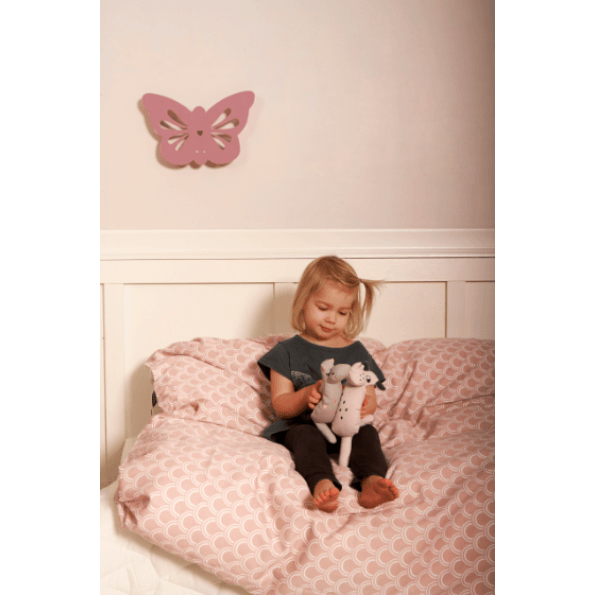 Roommate kat sengetøj 140x200 cm. - lyserød