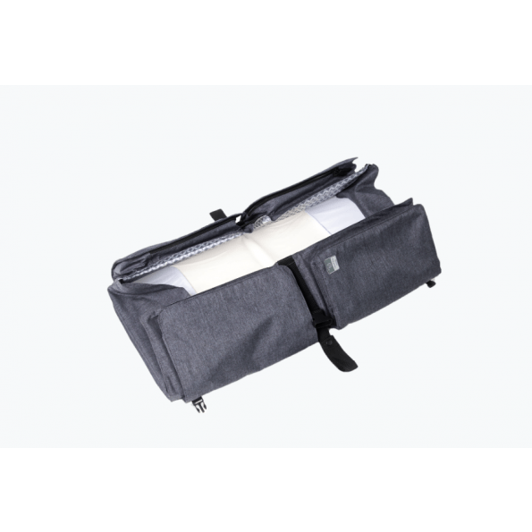 Doomoo basics 2in1 pusletaske og rejseseng - grå