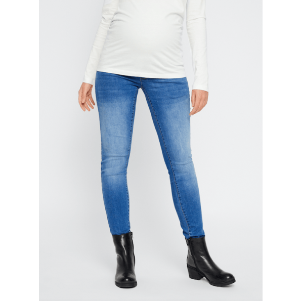 Mamalicious ventejeans – medium blue denim