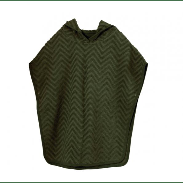 Filibabba zigzag badeponcho - dark green