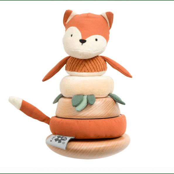 Sebra Sparky Fox Tumling & Stabelræv Aktivitetslegetøj - fox tail red