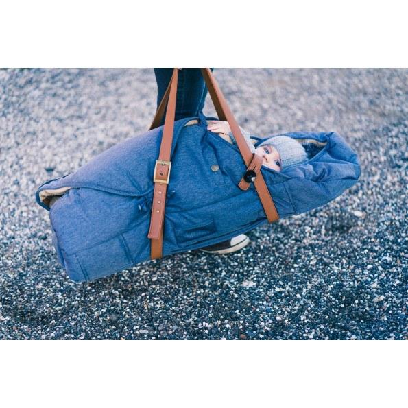 Sleepbag kørepose - Denim Look
