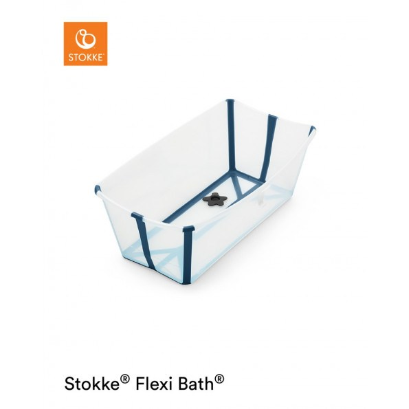 Stokke Flexi Bath badekar - Transparent Blue