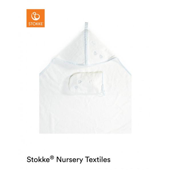 Stokke Hooded håndklæde m. hætte - Blue Sea