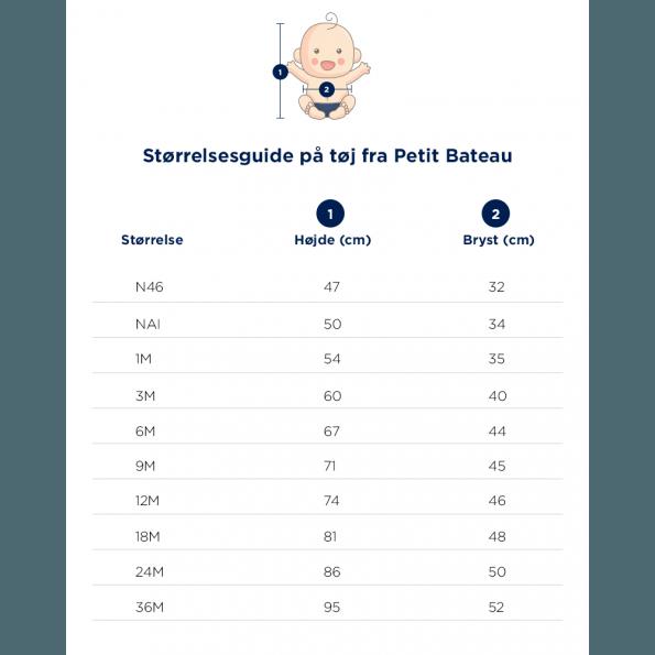 Petit Bateau - Slå-om-Body m. lange ærmer
