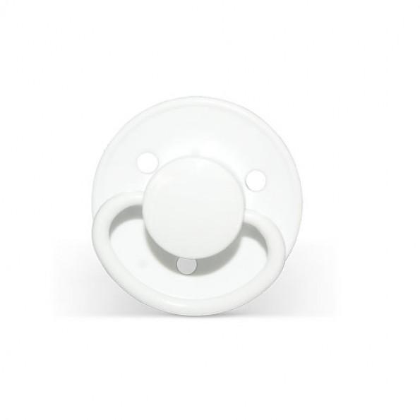 Mininor Rund Narresut Latex 6m+ 2-pak - Hvid
