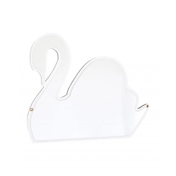 Maseliving - Svane spejl (hvid)