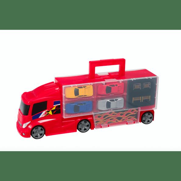 Teamsterz lastbil opbevaring med 4 biler