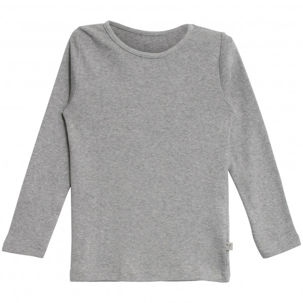 WHEAT langærmet t-shirt - Melange Grey