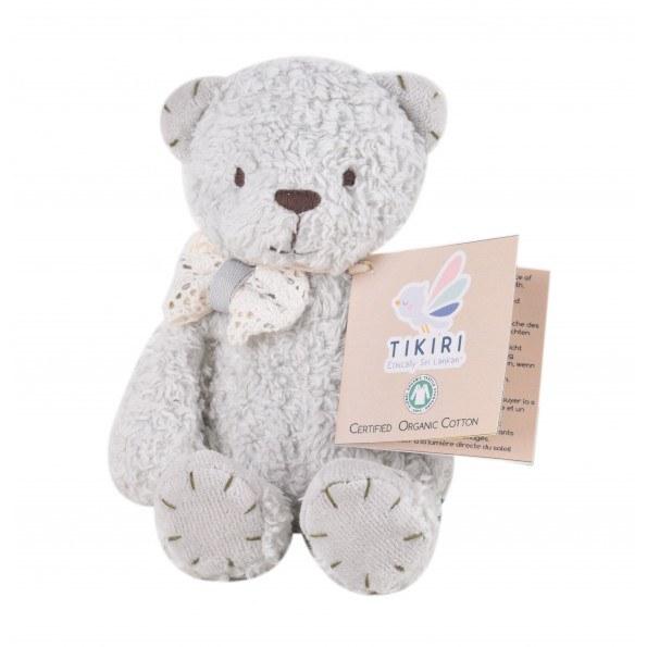 Tikiri økologisk bjørn bamse - Lysegrå