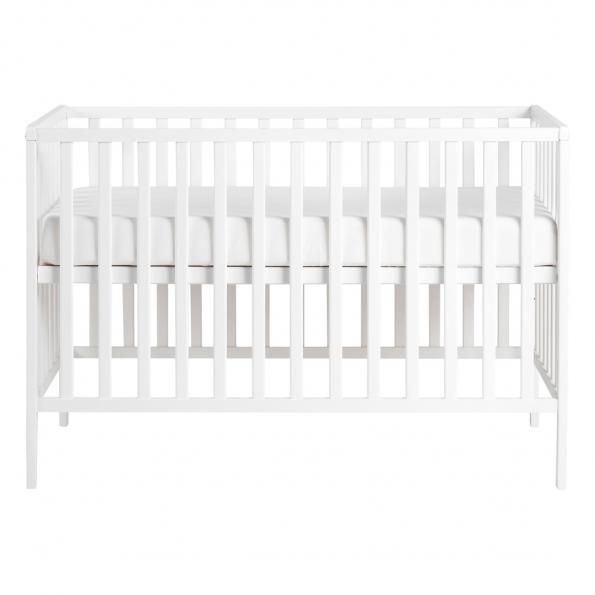 Tiny Republic Agnes tremmeseng hvid + Heybasic 3D lux air madras